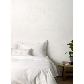 Ladderstitch Trim Quilt Cover Set By Linen and Moore