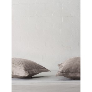 River Charcoal Tailored Pillowcase by Linen and Moore