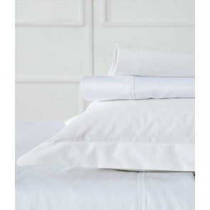 Blake King Single White Sheet Set by MM Linen