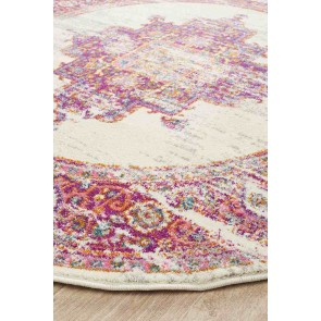 Babylon 211 Pink Round By Rug Culture