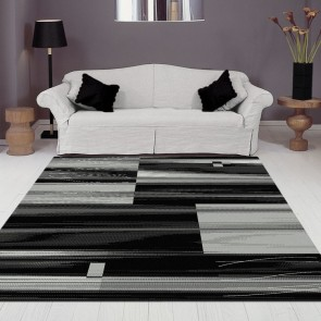 Visiona Black Boston Collection Rug by Saray Rugs