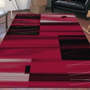 Visiona Red Boston Collection Rug by Saray Rugs