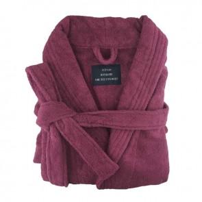Burgundy Egyptian Cotton Terry Toweling Bathrobe
