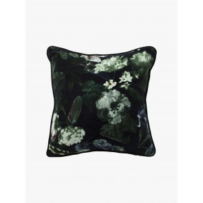 Botanica Black Cushion by Linen and Moore