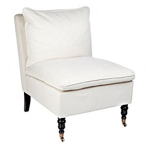 Cafe lighting Candace Occasional Chair White