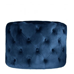 Camrose Ottoman 60X60X42cm Navy by J Elliot Home