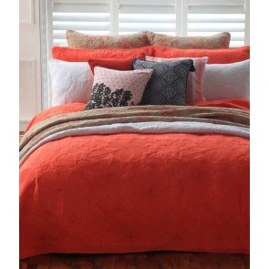 MM Linen Catalina Coral Queen Bedspread Set