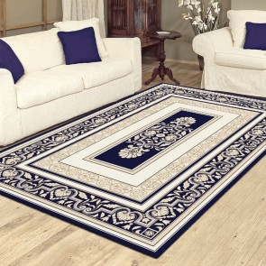 Novelty Dk Blue Charisma Rug by Saray Rugs