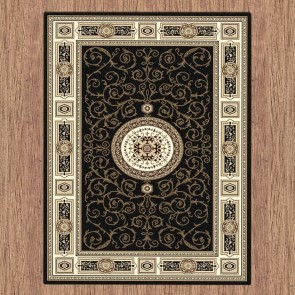 Rustic Black Charisma Rug by Saray Rugs