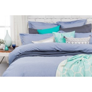 Bambury Charleston Blue Quilt Cover Set