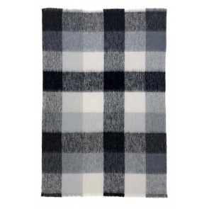 St Albans Alpaca Checkers Throw Rug