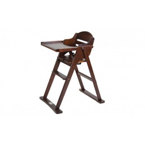 Babyhood Chocolate Timber Folding High Chair
