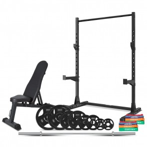 Cortex SR-3 Squat Rack 95kg Home Gym Package