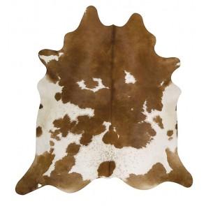 Premium Brazilian Cowhide Brown White By Rug Culture