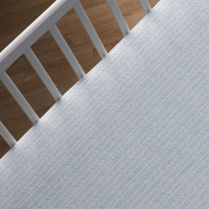 Aqua Herringbone Fitted Sheet by Lolli Living