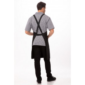 Cross Over Black Bib Apron by Chef Works