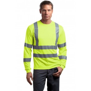 CornerStone ANSI 107 Class 3 Long Sleeve Snag-Resistant Reflective T-Shirt