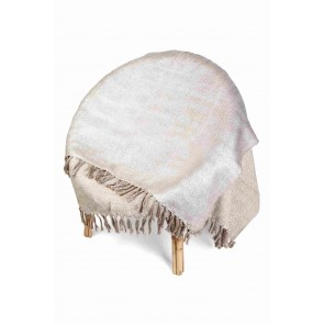 Sparkled Reversible Silver Foiled Throw by Alexander Santorini