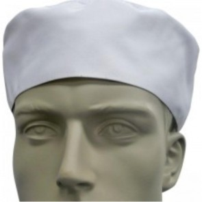 White Flat Top Chef Hat by Global Chef