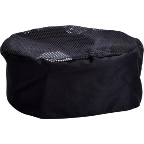 Black Mesh Top Chef Hat by Global Chef