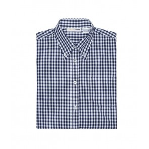 Gingham Men's Navy Dress Shirt by Chef Works