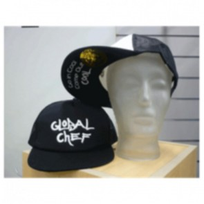 Black Funky Peaked Cap by Global Chef