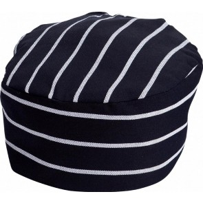 Navy & White Stripe Chef Hat