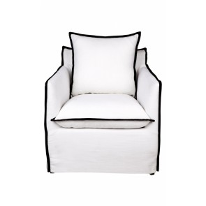 Cafe Lighting Long Island Arm Chair - White