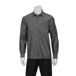 Detroit Black Long-Sleeve Denim Shirt