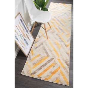 Dimensions 424 Yellow Runner By Rug Culture