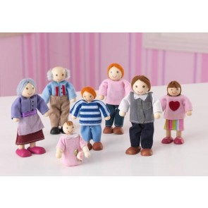 Doll Family of 7 Caucasian by Kidkraft