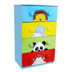 Teamson Sunny Safari 4 Drawer 8 Handle Large Chest