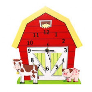 Teamson Happy Farm Wall Clock