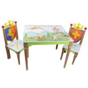 Teamson Knights & Dragon Table & 2 Sets Chair