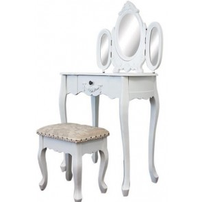 Living Good Dressing Table with 3 Mirrors & Stool 02