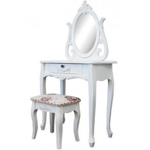 Living Good Dressing Table 5 Drawers with Mirrors & Stool 02