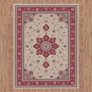 Weft Beige Dynasty Collection Rug by Saray Rugs