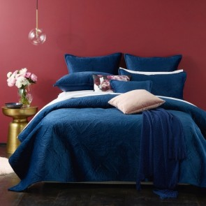 Bianca Dynasty Coverlet Set Navy Blue