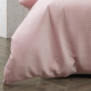 Bianca Elin Quilt Cover Set Dusty Pink