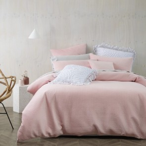 Elin Quilt Cover Set Dusty Pink