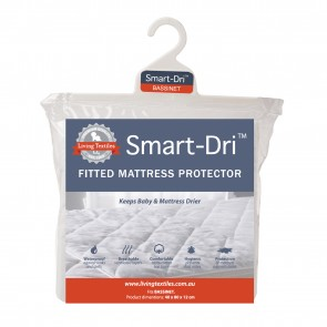 Smart-Dri Waterproof Bassinet Mattress Protector by Living Textiles