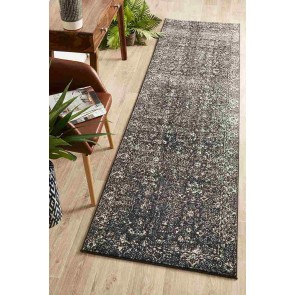 Evoke 252 charcoal runner By Rug Culture