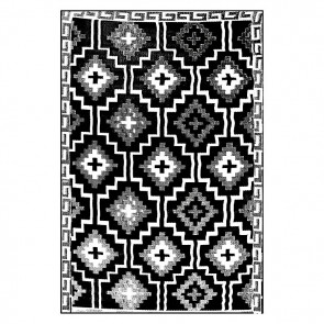 Fab Rug Lhasa Black Indoor/Outdoor Rug