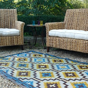 Fab Rug Lhasa Indoor/Outdoor Brown Rug