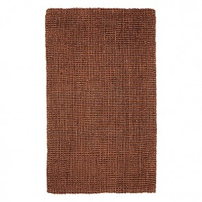 Fab Rug Estate Jute Dark Brown Rug