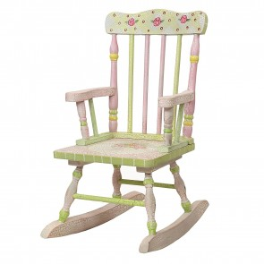 Fantasy Fields by Teamson Crackled Rose Rocking Chair