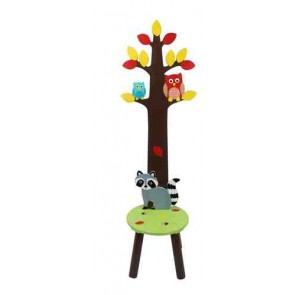 Fantasy Fields by Teamson Enchanted Woodland Coat Rack with Stool
