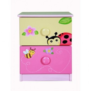Fantasy Fields by Teamson Magic Garden 2 Drawer Bedside Cabinet