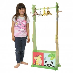 Teamson Sunny Safari Clothing Rack with Hangers