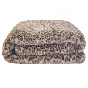 Faux Fur Throw - Leopard